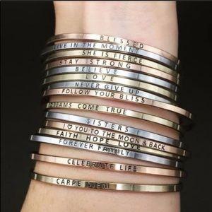 Jewelry - Dainty thin metal bracelet bangle
